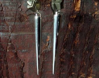 Pyrite Spike Earrings