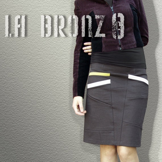 Bottoms Skirts Long Asymmetrical  Skirt with Color Diagonal Pockets