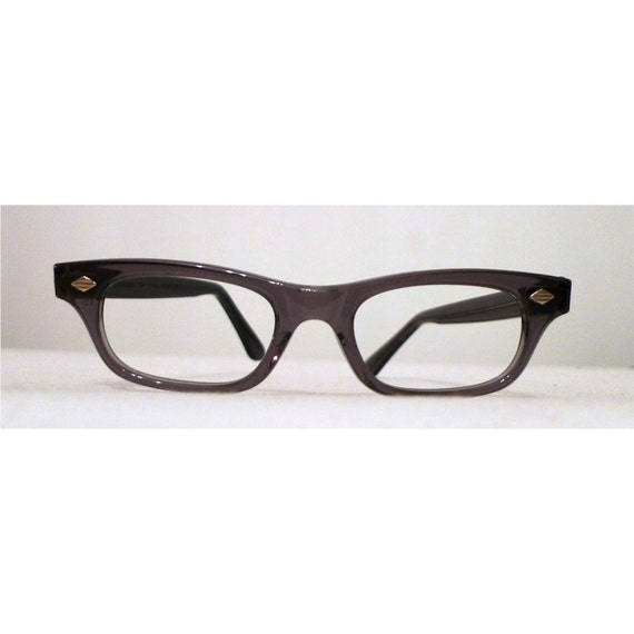 SALE // Grey Mad Men NOS Eyeglasses, Menswear Inspired Horn Rimmed Sunglasses Translucent