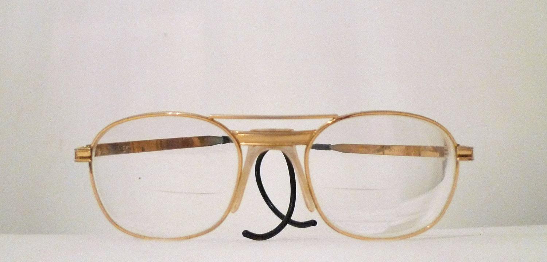 Aviator Eyeglasses Frame : Titmus Golden Aviator Eyeglasses Frames / Hip Hop Metal