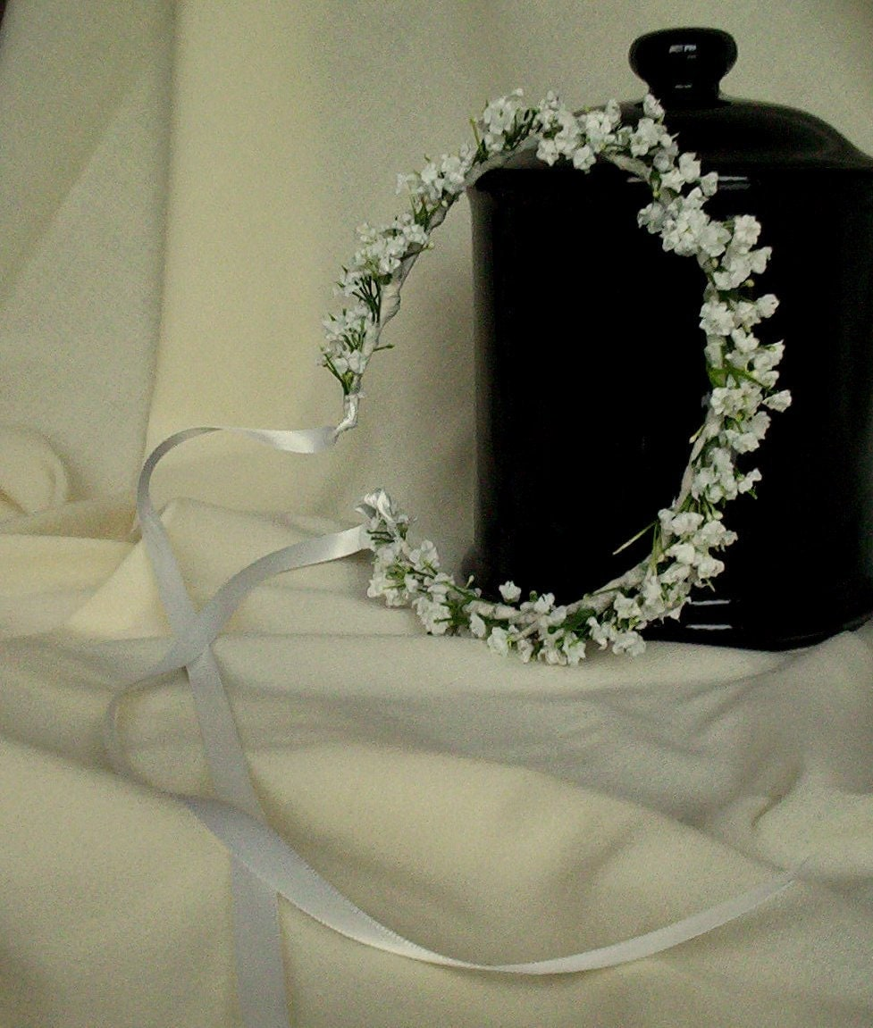 white wedding day hair accessories flower crown by amorebride. Black Bedroom Furniture Sets. Home Design Ideas