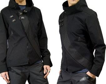 SALE Cavalier, anime inspired cyberpunk jacket by Plastik Wrap, size XL
