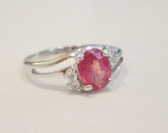 Ruby Set in Sterling Silver