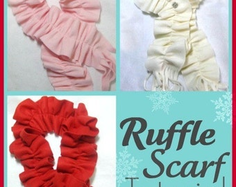 Easy Fleece Ruffle Scarf  PDF Tutorial