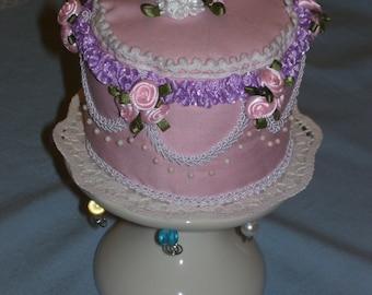 Decorated Pink Cake Pincushion