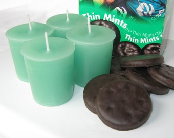 THIN MINT (4 votives or 4-oz jar candle)