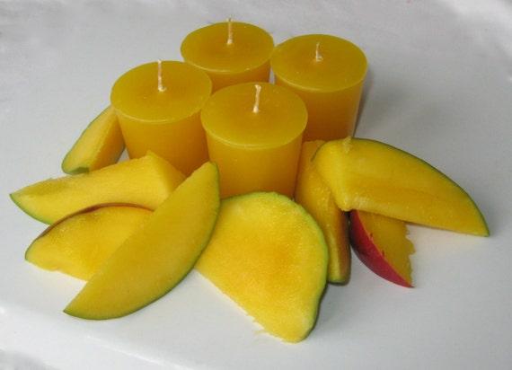 MANGO PEACH (4 votives or 4oz soy jar candle)