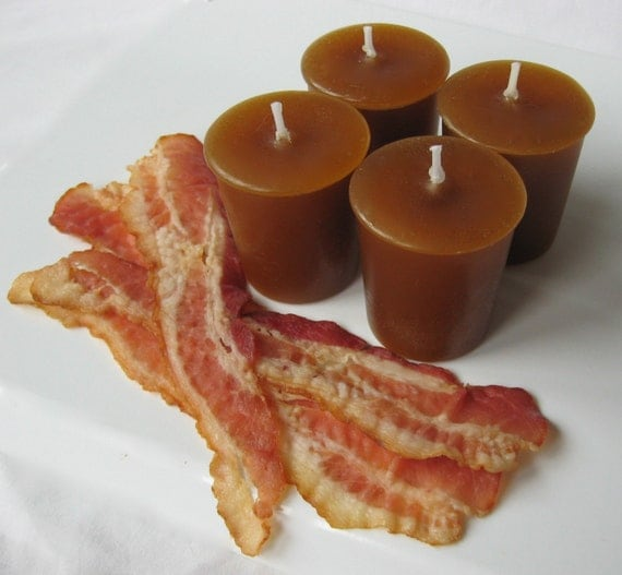 BACON CANDLES (4 votives or 4-oz soy jar candle)