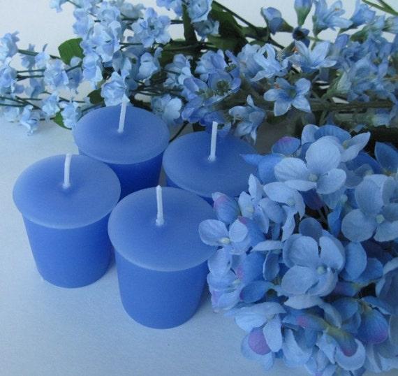 BLUE HYDRANGEA (4 votives or 4oz soy jar candle)