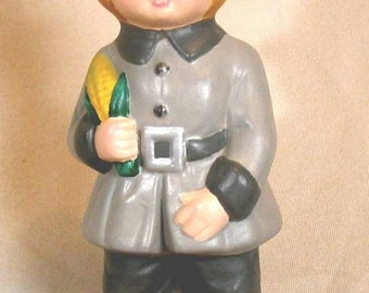 CUTE PILGRIM BOY ceramic figurine  by mawaggie
