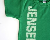 Personalized Distressed Name shirt - NO INK - Sizes 12m to 6. Click for colors