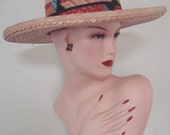 60s Ricky Ricardo Wide Brim Straw Hat SZ 6 Man or Woman Perfect for Spring