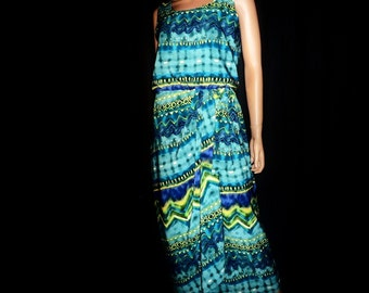 """SaRong Yet So Right - Vintage 80's - Bold - Ethnic - Mock - SARONG - Wrap -Dress - 38"""" bust size"""