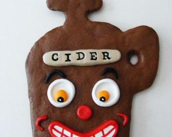 Vintage Style Apple Cider Folk Art Ornament