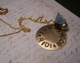 Italian Necklace...  Love Laugh  Dream.... Ama Ridi Sogna