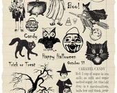 Halloween Party Rubber Stamp Collection