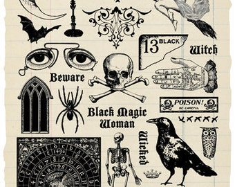 Wicked Rubber Stamp Collection - Halloween