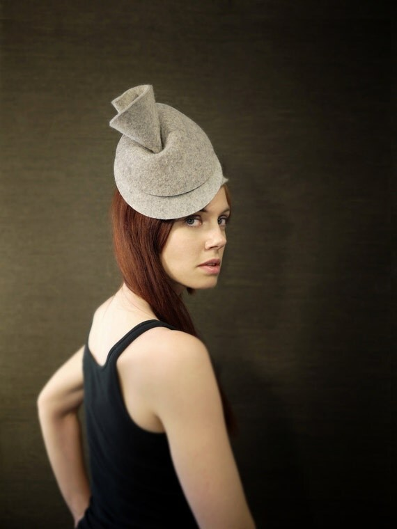 Industrial Felt Hat - Moon Shell Hat - Made to Order