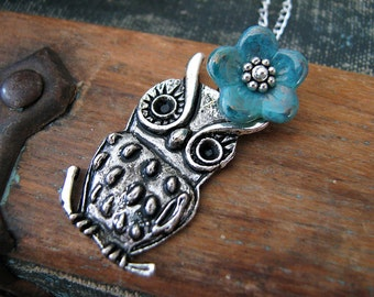 Little Hoot Owl Charm Necklace