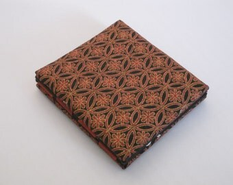 Magic Wallet, Red and Black Geometrical Asian Design Mini Magic Wallet