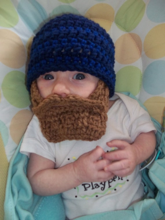 Lumberjack First Birthday, Lumberjack Party Supplies, Lumberjack Baby Shower, Baby Beard, Baby Beard Beanie, Baby Beard Hat, Navy Beard Hat