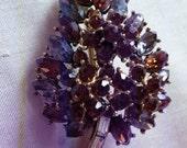 SALE Signed Crown TRIFARI Bejeweled Tree Brooch