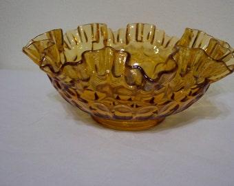 Amber Fenton Bowl Tumbprint Design