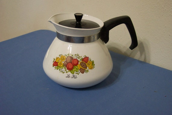 Corning Ware Spice of Life 6 Cup Teapot or Coffee Pot