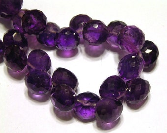 Amethyst royal purple faceted gemstone candy kiss onions 4 pieces
