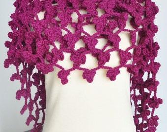 Clover Garden Hand Crochet Clover Scarf/shawl/wrap