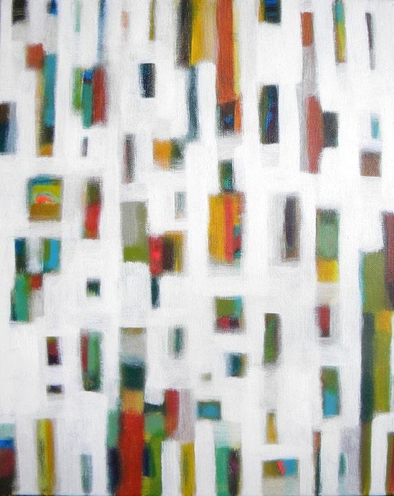 16x20 original art abstract painting - Make Room