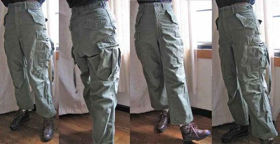 Vintage Military GI Olive Drab Pants