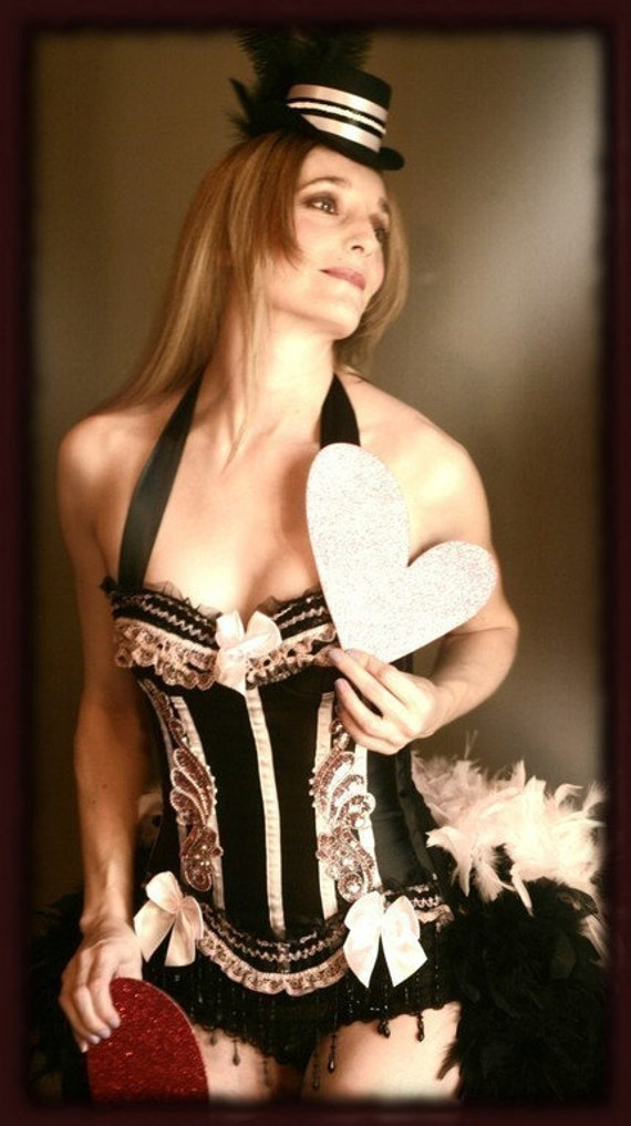 BARRYMORE Pink Burlesque Corset Costume Sexy Showgirl dress - EVERYTHING INCLUDED