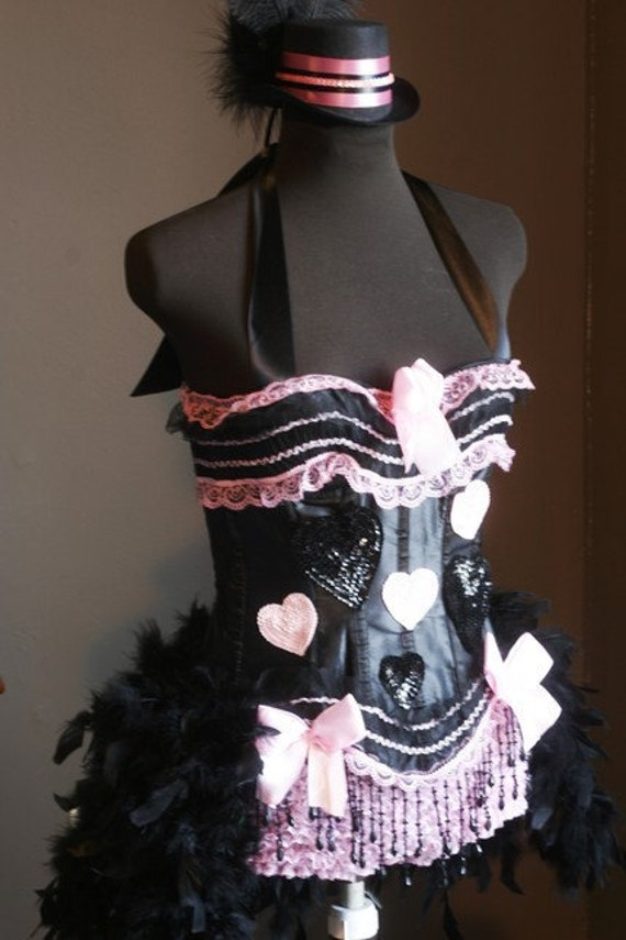 PINKY Circus Corset Burlesque Costume Halloween prom sexy dress