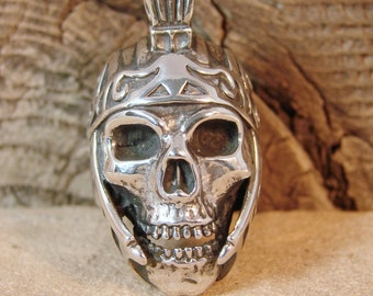 Skull Last Stand Warrior - Sterling Silver Ring - 250