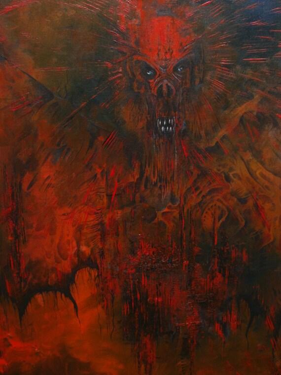 Vampire Awakens - Original Acrylic Painting