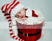 Longtail Elf Stocking Cap with Lg Pom Pom - Baby - Photography Prop