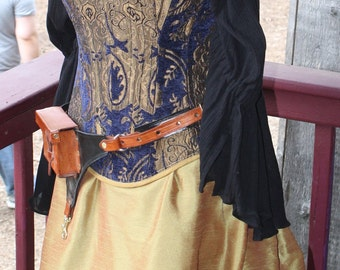 Blue and Gold Corset