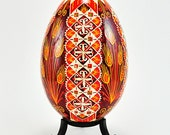 ON SALE - Harvest Sunshine - Real Traditional Ukrainian Goose Egg - Goose Pysanka