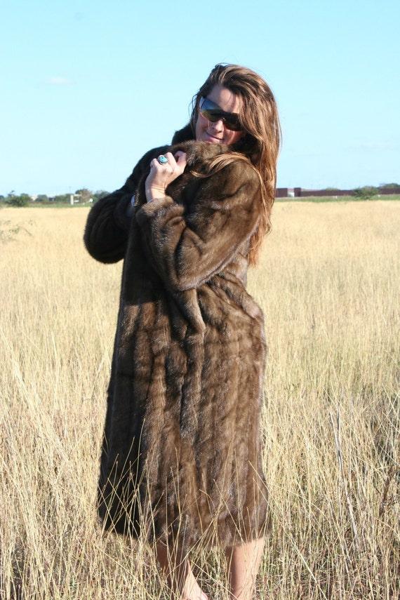 Vintage Fur Coat - Full Length Mink Coat - Circa 70-80s - Big Fur Coat - Rich - Glamorous - Glam - Upscale - Status - Prestige - by Strouss