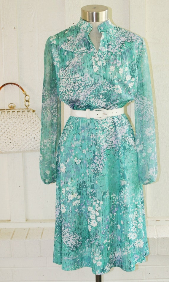 HOLD for Virginie - Serial Shopper - Circa Late 60's to 70's - Mint Green by Lady Carol Petite