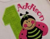 Custom Ladybug Birthday Tee/Onesie (Personalized Tee/Onesie)
