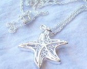 Starfish Necklace Sterling Silver