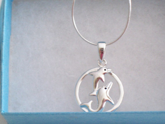Dolphin Sterling Silver Necklace