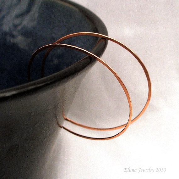 Large Copper Hoop Earrings