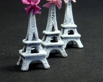 Shabby Chic Eiffel Tower - Miniature Decoration - French Handmade Dollhouse Miniature