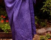 Spiral Purple Sarong - Beach Sarong Swimsuit Coverup - Batik Pareo - Womens Clothing Beach Skirt - Sarong Wrap Skirt Long - Beach Wrap