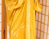 Yellow Dragonfly Sarong Swimsuit Coverup Spring Hawaiian Dress Batik Beach Pareo Women's Clothing - Spa Wrap - Long Wrap Skirt