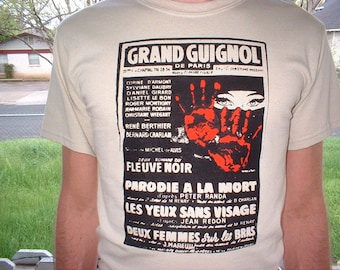 GRAND GUIGNOL Theater of Horror vintage poster screenprint