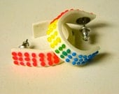 Button Candy Clay Hoop Earrings